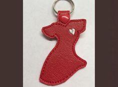 Red Heart Disease Dress Key Fob