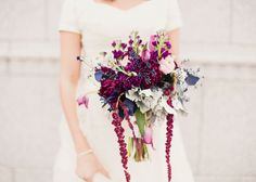 amazing bouquet Studio Stems created for a fall ombre themed wedding. Photo by Alixann loosle