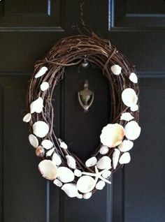 All Things Luxurious: Grapevine Seashell Wreath