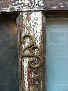Vintage door number Number Tattoo Fonts, Number Tattoos, Magic Number, Old Doors, Cool Fonts, Letters And Numbers, Still Life, Lettering, Ideas