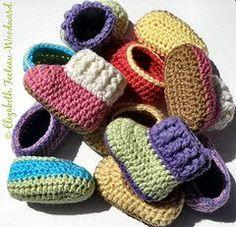 Crochet infant bootie-slippers - free pattern
