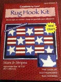 7892c730d85 Patriotic Rug Hook Kit Stars   Stripes Creations by Caron 18