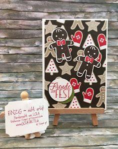 Stempel und Stanze (2)  Es gibt in dem neuen Katalog auch ganz tolles Papier mit dem sich einfach Karten gestalten lassen.Wenn das Papier schon so wild ist hat es den Vorteil das es dann gar nicht mehr so viel an Dekoration braucht - und schon hat frau die perfekte Weihnachtskarte!   Glück darf Weihnachten immer etwas mehr überladen sein sonst würde ich mit dieser Karte nicht durchkommen :-)hier die nicht überladene Materialliste:  Passende Sets Weihnachten