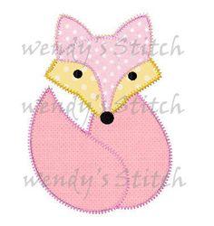 Fox Applique Maschine Stickerei Digtial Muster von WendysStitch