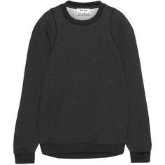 Acne Studios Albina oversized cotton-blend jersey sweatshirt (80.185 HUF) ❤ liked on Polyvore featuring tops, hoodies, sweatshirts, grey, gray crewneck sweatshirt, grey crew neck sweatshirt, gray sweatshirt, oversized crew neck sweatshirt and acne studios