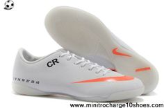 Latest Listing Cheap Nike Mercurial CR7 personal IC indoor white orange Football Shoes On Sale