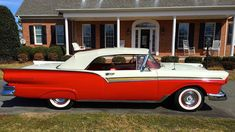 1957 Ford Fairlane 500 Sunliner 312 CI, Automatic presented as lot F57 at…
