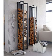 ideas fireplace wood storage indoor decor for 2019 Indoor Firewood Rack, Firewood Holder, Bike Storage Wood, Wood Shed, Bedroom Storage, Home Decor Bedroom, Home Furniture, Shelves, Ranger