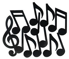 Jazz up your wall with our Musical Note Silhouettes. These two-sided paper musical notes range in sizes from 12 to 21 tall.