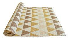 Tribus gold - Plastic rug 70x200cm #nordicdesigncollective #linajohansson #rug #yellow #design #nordicdesign #swedishdesign