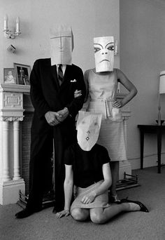 Available for sale from Magnum Photos, Inge Morath, Untitled. (from the Mask Series with Saul Steinberg), Photograph by Inge Morath © The Inge Morath Foun… Erwin Olaf, Saul Steinberg, Magnum Photos, Photography Projects, Portrait Photography, Inge Morath, Atelier Photo, Belle Photo, Black And White Photography