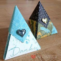 Weite Welt - Origami Tetraeder ohne kleben Faltbox mit Designerpapier Weite Welt Dankeschön Goodie Stampin'Up Frühjahrs-/Sommerkatalog 2016