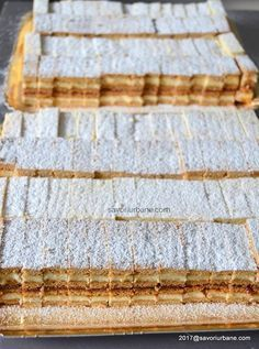 Romanian Desserts, Romanian Food, Sweets Recipes, Baking Recipes, Cookie Recipes, Focaccia Bread Recipe, Pastry Cake, No Bake Cake, Deserts