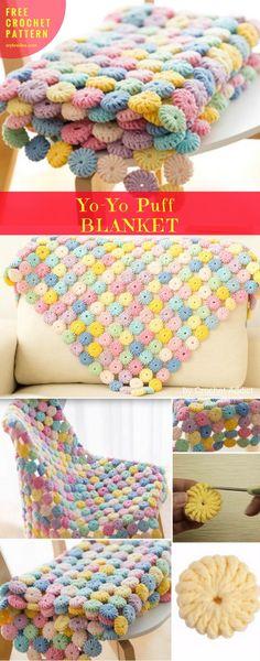 Soft Seat #CrochetBlanket #YoYoPuff #FreePatternCrochet→Blanket, Throw   size: puff   Written in PDF   US Terms Level:beginneryarn:100% cotton hook: 2.5mmAuthor: by Craft Passion