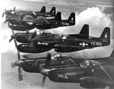 Double sit fighters North American F-82 Twin Mustang from the composition of the 68th fighter squadron U.S. air force; Japan; ~ early 1950-ies