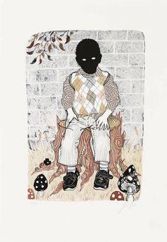 Julie Nord – Sitting Boy. Litografi, 50 x 35 cm. Oplag: 120. Pris: 2.000 kr.