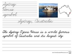 free printable cursive handwriting worksheets learn about cities of the world while practicing penmanship