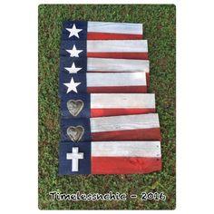 Texas Flag  Rustic Decor  Texas Decor  Texas Art  by TimelessNchic
