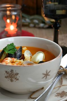 Sopa de peix i marisc / Sopa de pescado y marisco
