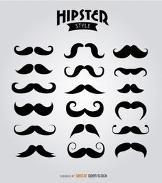 Items similar to Mustache Clipart Digital Mustache Clip Art Hipster Clipart Vector Mustache Silhouette Gentleman Clipart Invitations Retro Party Printable on Etsy Barber Logo, Barber Tattoo, Hipster Fashion, Mustache Tattoo, Beard No Mustache, Moustaches, Mustache Styles, New Mehndi Designs, Tattoo Designs