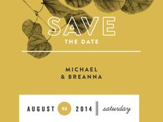 M&B | Save The Date.