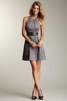 Halter Dress with Belt