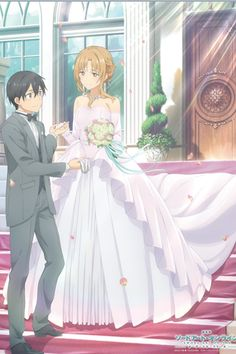 Image in Sword Art Online collection by Artemida Sao Fanart, Sword Art Online Kirito, Online Anime, Online Gif, Kirito Asuna, Video Game Anime, Manga, Couple Art, Anime Couples