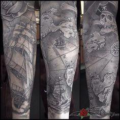 Najlepsze Obrazy Na Tablicy Mapy 58 Tatuaże Rękawy