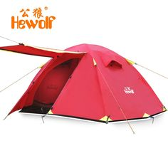 57.95$  Buy here - http://alivai.worldwells.pw/go.php?t=32346004869 - Hewolf four seasons double layer 2 person upgrade professional outdoor tent