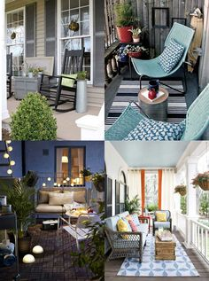 """Front Porch and Balcony Design Ideas - Hutsly. The Joneses have got new garden furniture; and they're bragging about it. Of course your competitive self is thinking: """"I could do better"""". But decorating a patio, a backyard, a porch, a balcony or a terrace is no easy task and you may be lost for ideas. Where to start? Right here!"""