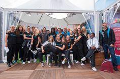 L'équipe féminin d'Achenheim Truchtersheim Handball (ATH) au village du CG67 à la Foire européenne ©Denis Guichot/CG67