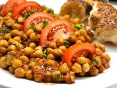 Meat Recipes, Vegetarian Recipes, Cooking Recipes, Crossfit Diet, Chana Masala, Black Eyed Peas, Food Porn, Food And Drink, Tasty