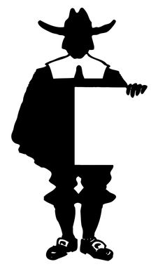 Click on Image to Enlarge Click HERE for the Full Size Printable PDF of the Brown Pilgrims Click HERE for the Full Size Printable PDF of the Black and White Pilgrims This cute Pilgrim Silhouette comes from an early 1900's Type book. He's holding a blank sign, which made me think he would be perfect …