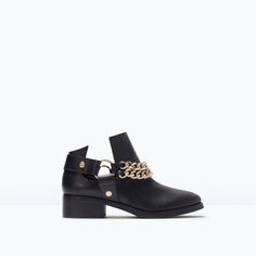 ZARA - SHOES & BAGS - LEATHER ANKLE BOOTS WITH CHAINS