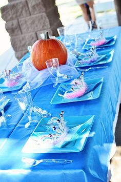 Cinderella- being positive in the face of adversity and enduring to the end till we live in our heavenly castle again. Princess Birthday, Disney Princess Party, Disney Birthday, Cinderella Party, Bday Girl, 5th Birthday Party Ideas, Birthday Table, 3rd Birthday, Elisa Taylor