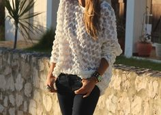 slouchy shirt and jeans