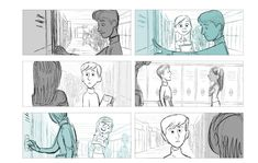 Incredibles 2 storyboard by Austin Madison and Ted Mahot