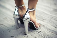 In love with metallic, shiny, patent things.