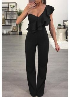 SPECIFICATIONS: Product Name Fashion One Shoulder Sleeveless Jumpsuits Brand Pinksia Color Claret red SKU Gender Women Style Elegant/Sexy/Fashion Type Jumpsuit Occasion Party/Vacation/Daily Life Material Polyester Sleeve Short Sleeves Decora Jumpsuit Outfit Dressy, Formal Jumpsuit, Elegant Jumpsuit, Ruffle Jumpsuit, Ruffle Romper, White Romper, Black Jumpsuit Outfit Night, Dressy Jumpsuit Wedding, Jumpsuit Outfit