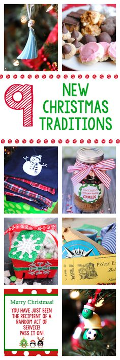 9 Great Christmas Traditions to Start this year! It's not too late for some of these-great ideas for Christmas Eve!