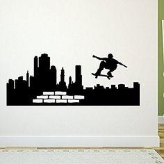 Tolle Wandgestaltung Für Ein Skater Zimmer: Wandtattoo New York Straße  Skate   55 X 140