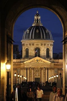 Palais de l'Institut seen from the Louvre. Long lens.