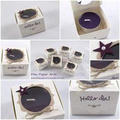 Mini Teelicht-Schachteln mit der Stanze Gewellter Anhänger   Fine Paper Arts = explications de la boîte : https://finepaperarts.wordpress.com/2014/10/26/mini-teelicht-schachteln-mit-der-stanze-gewellter-anhanger/