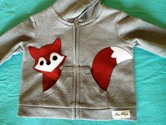 Fox in my Pocket Zip Up Hoodie/ Jacket/ Coat. $25.00, via Etsy. {Why oh why can't they carry it in a 12 month size?!? Argh!}