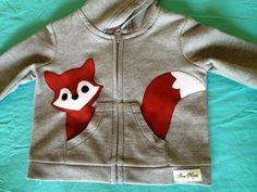 Fox in my Pocket Zip Up Hoodie/ Jacket/ Coat. $25.00, via Etsy.