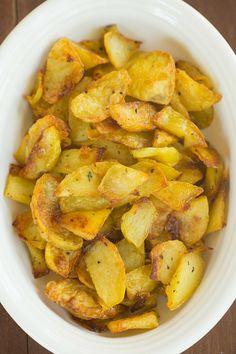 My grandma's legendary Sunday roasted potatoes | browneyedbaker.com #recipe