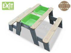 EXIT Aksent Pískoviště s krytem stůl s lavicemi