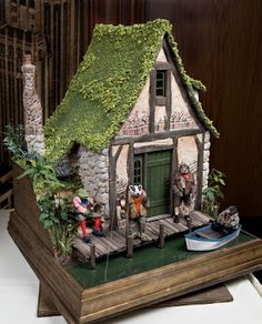 Ratty's House on the river bank. Inspired by Wind in the Willows (Kenneth Grahame, 1908).
