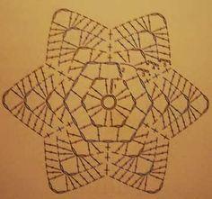 Estrella navidad sencilla crochet ganchillo