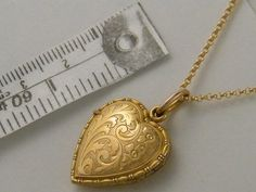 c1890 9K TRUE LOVE Victorian Gold Locket Vintage Antique Gold Floral Heart Locket Necklace Wedding Anniversary Birthday Gift Jewelry    To see 40 more Antique Lockets, please click here... http://www.antiquelockets.etsy.com    Offer of $25.00 discount is added.    ANTIQUE LOCKETS & LOVE TOKENS SHOP WILL BE CLOSING FOR VACATION:   NOVEMBER 15 - JANUARY 1, 2015. PLEASE SHOP EARLY FOR CHRISTMAS TO AVOID DISAPPOINTMENT.     A GIFT OF LOVE TO YOURSELF OR SOMEONE YOU LOVE...This is a ...